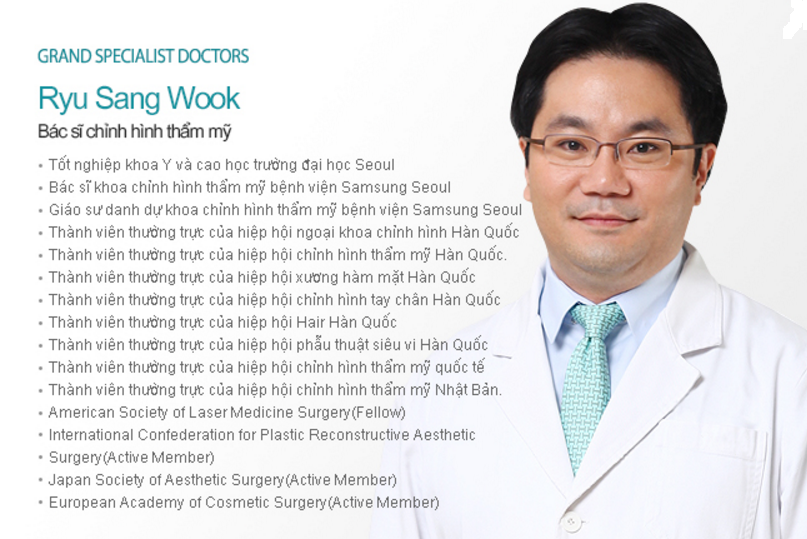 Ryu Sang Wook - Cosmetic Surgeon